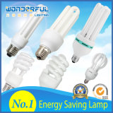 Lámpara fluorescente compacta ahorro de energía espiral llena ahorro de energía al por mayor de la iluminación CFL del loto de la bombilla del tubo 2u/3u/4u lámpara de la fábrica/T3/T4/T5 media LED