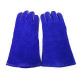 14inch 파란 색깔 용접 장갑