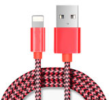 Magnetic Lightning Braided Cable Mobile Sync LED Cabo de luz retráctil Flat para iPhone 7 6 / Samsung