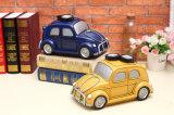 Caja europea del ahorro del dinero de la resina del autobús de la manera para ahorrar su dinero
