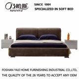 Кровать самомоднейшей конструкции мягкая с чехлом из материи для живущий мебели G7002A комнаты