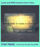 Visitenkarte mit heißem Stempel für Mitgliedschaft