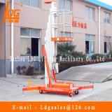 Plataforma hidráulica de aluminio de la elevación del trabajo aéreo del mástil (GTWY6-100SB)