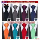 Jogos vermelhos de seda do laço dos botão de punho de lenço do laço das gravatas dos jogos do laço preto dos laços do Mens (B8052)