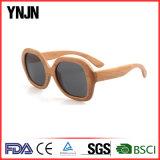 Vidros de madeira feitos sob encomenda da personalidade UV400 Sun de Ynjn polarizados (YJ-MP080)