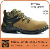 """Zapatos de seguridad antiestáticos de la punta de acero del cuero genuino de los hombres 4 """" (SC-2202)"""