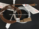 Cordon électrique Twisted noir de tissu de textile