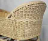 Huche de bâti de lit de camp de bébé de berceau de rotin de berceau de bébé de rotin