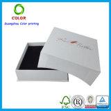Rectángulo de joyería cristalino de papel de encargo barato con la impresión de la insignia