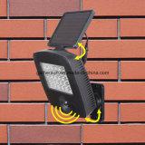 luz solar del sensor de movimiento de 30LED Rotatabale LED para al aire libre usado