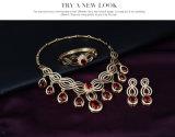Комплект ювелирных изделий PCS способа 4 ожерелья заявления Gemstone сплава кристаллический преувеличенный