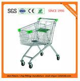 高品質のスーパーマーケットの店の小売店のトロリー製造の金属および亜鉛または電流を通されたクロム表面08013