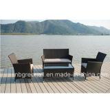 Mobília barata ajustada do Rattan da conversação de vime quente do pátio da venda