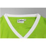 T-shirt da V-Garganta do poliéster da qualidade superior da forma dos homens com cópia