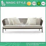 Jogo ao ar livre ajustado de tecelagem do sofá do sofá moderno ajustado do sofá da fita nova do projeto
