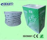 Cable UTP Cat 5e de cobre de 0,5 mm de red LAN