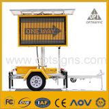 Muestra de camino móvil accionada solar ambarina del tráfico del OEM LED VM