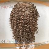 ブラジルの毛の完全なシリコーンの人のToupee、女性のToupee、毛の部分のかつら