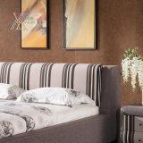 내각 (306+05)와 일치하는 줄무늬 패턴 직물 침실 침대