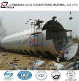 Tubo acanalado encajable galvanizado del metal del diámetro grande