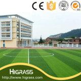 Do futebol falsificado Anti-UV brandamente durável do futebol do produto de Higrass preço artificial sintético do relvado