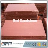 Arenaria rossa tagliata al formato per le mattonelle della parete delle mattonelle di pavimento di progetti