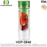 La bouteille d'eau neuve en gros de fruits frais de Tritan, BPA libèrent la bouteille en plastique d'infusion de fruit (HDP-0846)