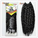 Выдвижение 100% волос Jumbo оплетки Kanekalon оплетки волос вязания крючком закрутки Mambo Гавана синтетическое Lbh012