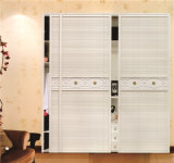 寝室176のための高品質のMorden Design PVC Shutter Series Wardrobe Sliding Door