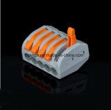 (Wago 222-415) 5pin conetor de cabo compato universal do condutor do conetor do fio Pct-215