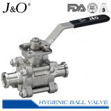 Three-Piece Sanitary T-Clamp Ball Valve mit ISO5211 Mounting Pad