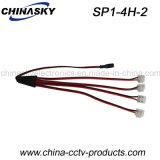 Mann des Spannungs-Teiler-Kabel-1 zu Weibchen 4 für 5.5*2.1mm CCTV-Kamera (SP1-4H-2)