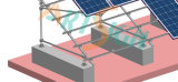Solar-PV System-Konkreten Block einhängend