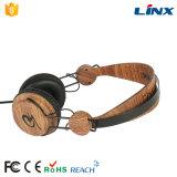 La impresión de la transferencia del agua modifica el auricular de madera estéreo del OEM para requisitos particulares de la insignia