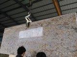 중국 화강암 석판 황금 결정/다이아몬드 꽃은 Worktop 벽 클래딩을 타일을 붙인다