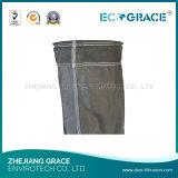 Sacchetto filtro a temperatura elevata della vetroresina dei sacchetti filtro