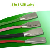 Крен силы высокого качества Universial поручая микро- кабель USB для Android и телефона Ios, 2 в одном кабельном соединителе USB