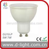 CE RoHS Ra> 80 PF> 0.5 SMD2835 Proyector de plástico de aluminio de 120 grados GU10 7W LED