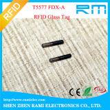Tag de vidro dos peixes do Lf RFID/animal de estimação pequeno com o microchip animal da identificação