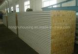 Tarjeta del panel de emparedado del panel de emparedado de la fibra de las lanas de roca EPS