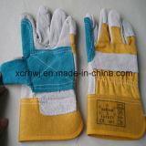 Короткие перчатки заварки, перчатки безопасности работая, 10.5 '' залатанных перчаток ладони кожаный, усиленные перчатки ладони кожаный работая, поставщик перчаток водителя