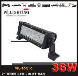 36W barra chiara fuori strada dell'indicatore luminoso 12LEDs del lavoro del CREE 7inch LED