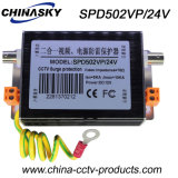 Dispositifs visuels de protection contre la foudre d'alimentation de l'énergie 24V de télévision en circuit fermé (SPD502VP/24V)