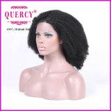 ブラジルのバージンの毛のアフリカの黒人女性のためのねじれた巻き毛のかつらの人間の毛髪の前部レースのかつら130の密度のレースのかつら