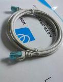 Серый цвет двуустки 1m пропуска шнура заплаты 7*0.2mm Cat5e Bc