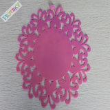 Borracha de silicone redonda colorida Placemat do produto comestível de Skidproof da forma do furo do favo de mel Tablemat Cupmat