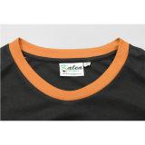 Maglietta stampata pianura rotonda all'ingrosso poco costosa del collo degli uomini di alta qualità