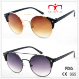 Clássico e Hot Sales com Metal Round Frame e óculos de sol de Plastic Temple (MI212)