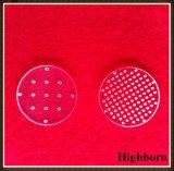 Laser personnalisé forant autour du disque clair de glace de quartz