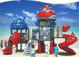 Strumentazione di plastica esterna del campo da giuoco dei bambini di serie del robot di Kaiqi con le attività emozionanti delle trasparenze e dello scalatore